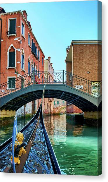 Ride On Venetian Roads Canvas Print