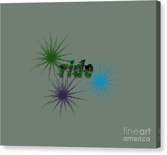 Ride Text And Art Canvas Print