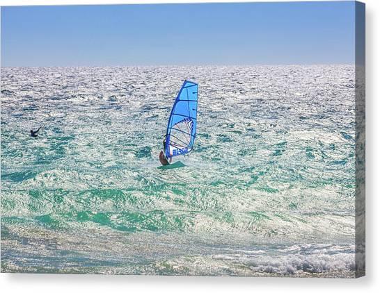 Ride The Waves, Scarborough Beach Canvas Print