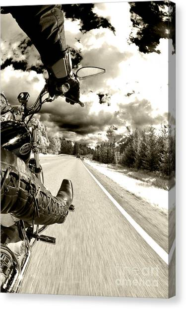Tanks Canvas Print - Ride To Live by Micah May