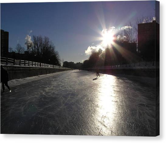 Rideau Canal Canvas Print by Richard Mitchell