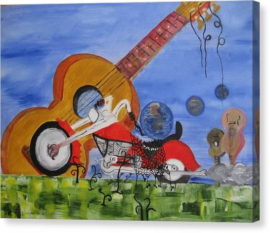 Rider Canvas Print by Antonio Raul