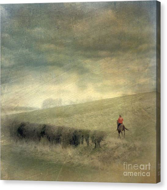 Rider In The Storm Canvas Print