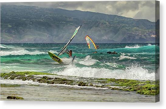 Canvas Print featuring the photograph Riders On The Storm by Susan Rissi Tregoning