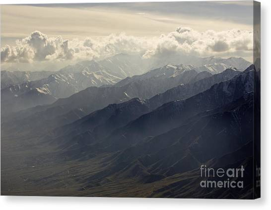 Hindu Kush Canvas Print - Ridges Of The Hindu Kush Mountains by Tim Grams
