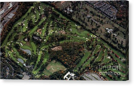 Ridgewood Canvas Print - Ridgewood Country Club Aerial Photo by David Oppenheimer
