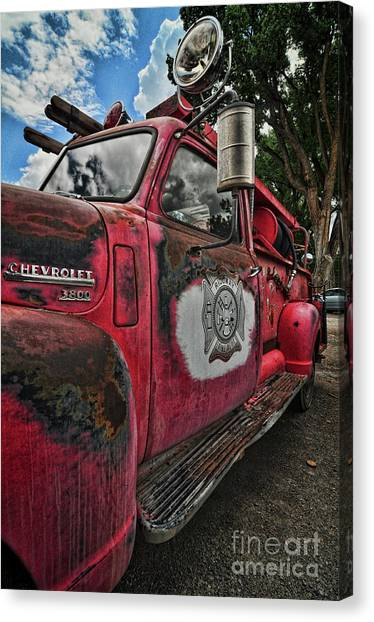 Ridgway Fire Truck Canvas Print