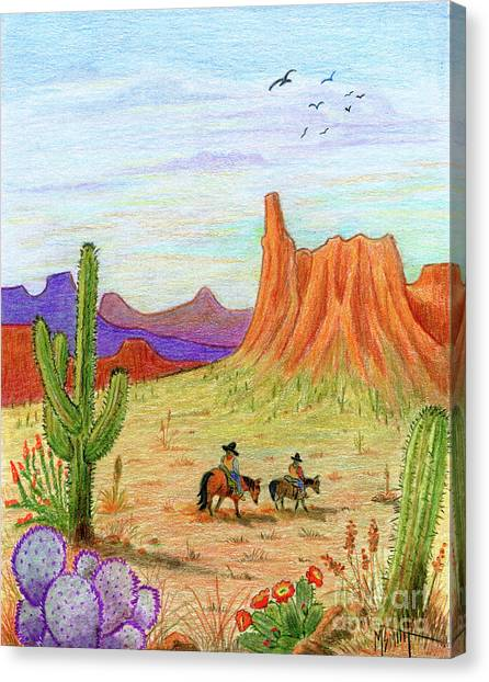 Canvas Print - Ridin' The Range by Marilyn Smith