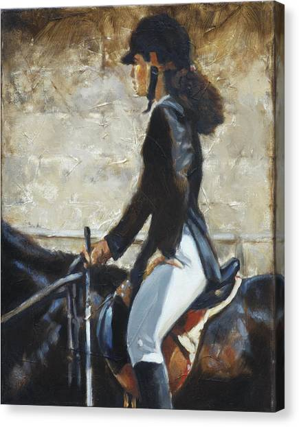 Riding English Canvas Print