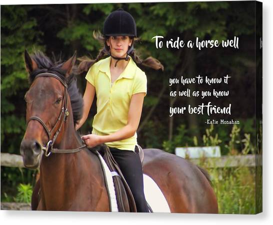 Riding Grace Quote Canvas Print by JAMART Photography