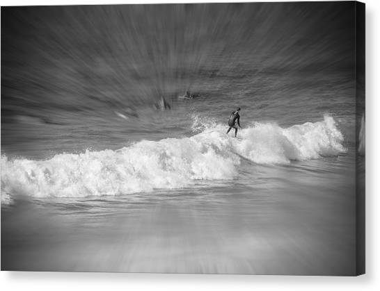 Riding It Out Canvas Print