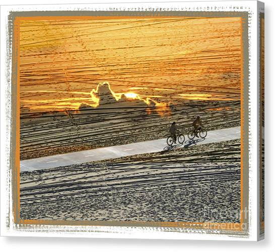 Riding Off Into The Sunset Canvas Print by Chuck Brittenham