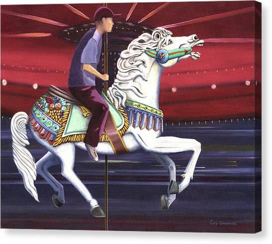 Riding The Carousel Canvas Print