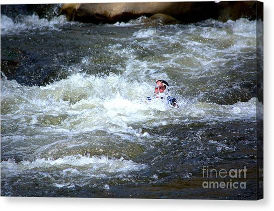 Riding The Flume Canvas Print