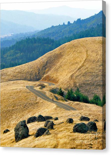 Riding The Mountain Canvas Print
