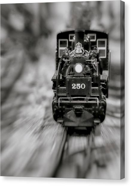 Canvas Print featuring the photograph Riding The Railways by Elaine Malott