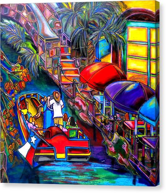 Riding The River Canvas Print by Patti Schermerhorn