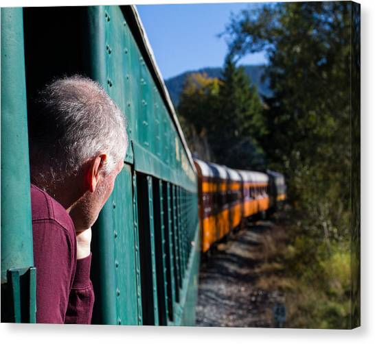 Riding The Train 8x10 Canvas Print