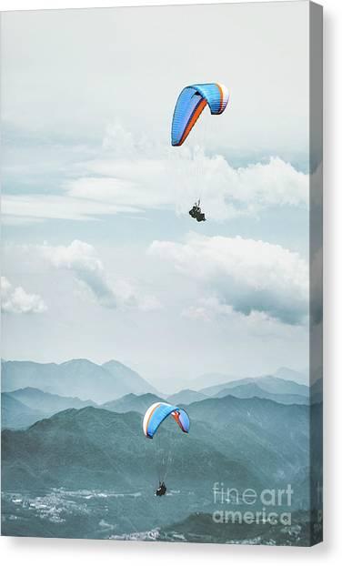 Altitude Canvas Print - Riding The Wind by Evelina Kremsdorf