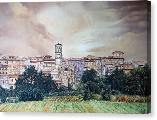 Rieti Panoramic Canvas Print