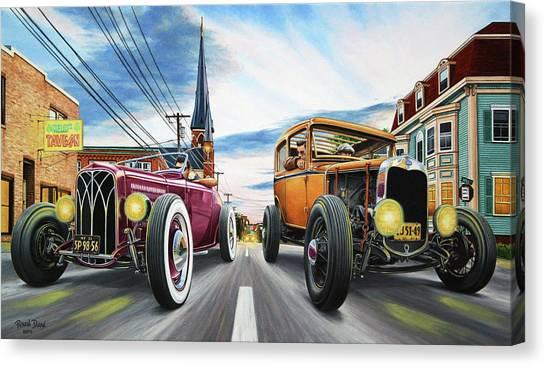 Style Canvas Print - Riff Raff Race 5 by Ruben Duran