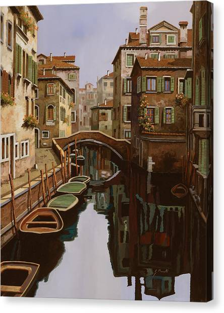 Italy Canvas Print - Riflesso Scuro by Guido Borelli