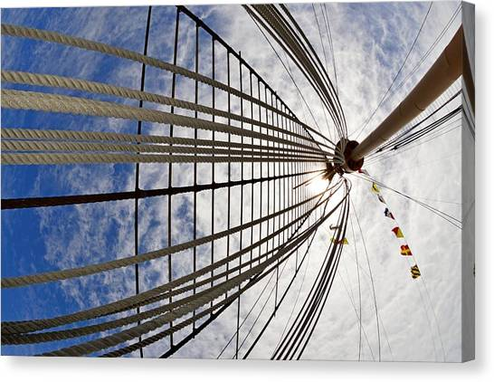 Rigging Of Queen Mary Canvas Print