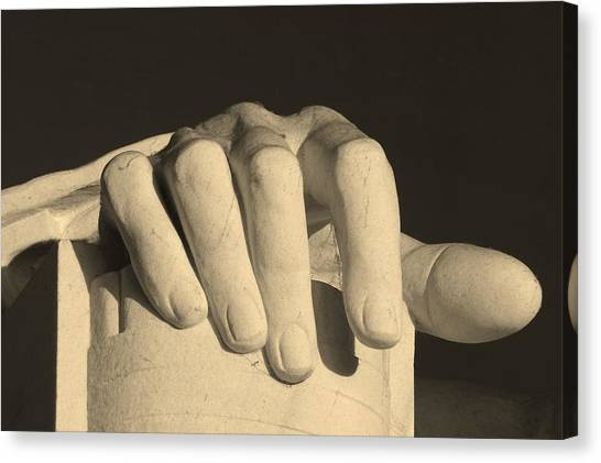 Right Hand Of The Man Canvas Print