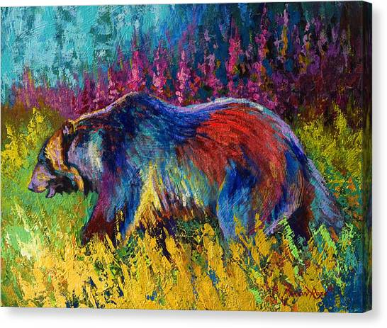 Denali Canvas Print - Right Of Way - Grizzly Bear by Marion Rose