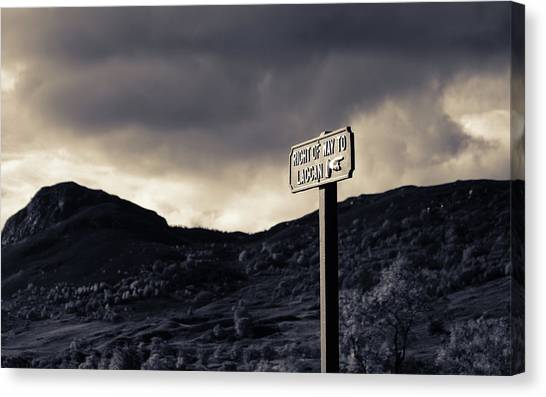 Right Of Way To Laggan Canvas Print