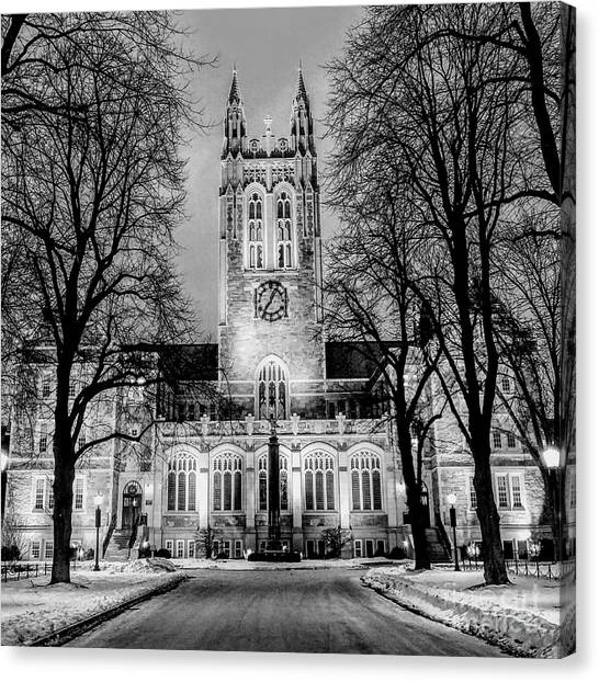 Boston College Canvas Print - Right On Time by Dave Pellegrini