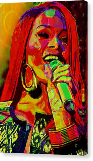 Rihanna Canvas Print - Rihanna 2 by  Fli Art