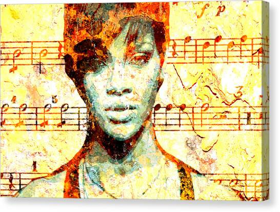 Rihanna Canvas Print - Rihanna by Chandler  Douglas