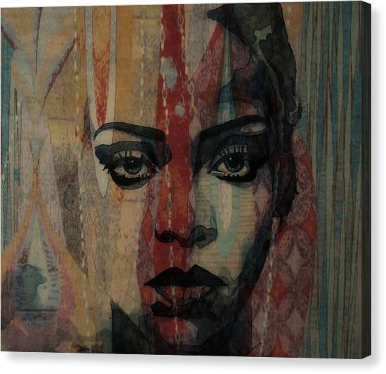 Rihanna Canvas Print - Rihanna - Diamonds by Paul Lovering