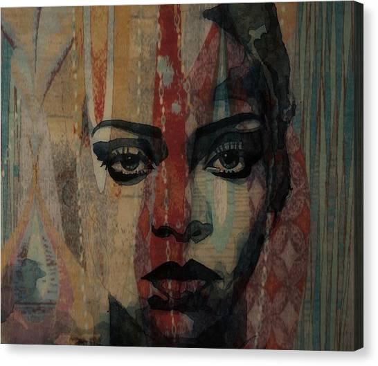 Concert Images Canvas Print - Rihanna - Diamonds by Paul Lovering