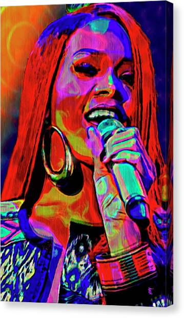 Rihanna Canvas Print - Rihanna  by  Fli Art