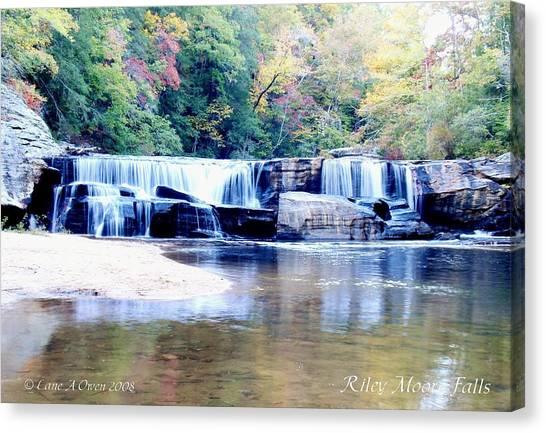 Riley Moore Falls Oconee County Sc Canvas Print by Lane Owen
