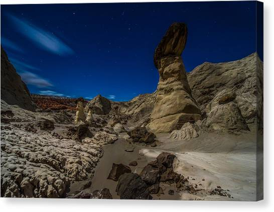 Star Valley Canvas Print - Rim Rock Toadstools Grand Staircase National Monument  by Larry Marshall