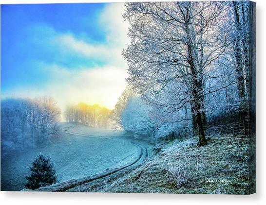 Rime Ice Sunrise Canvas Print