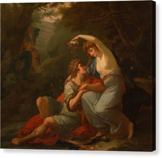 Neoclassical Art Canvas Print - Rinaldo And Armida by Angelica Kauffman