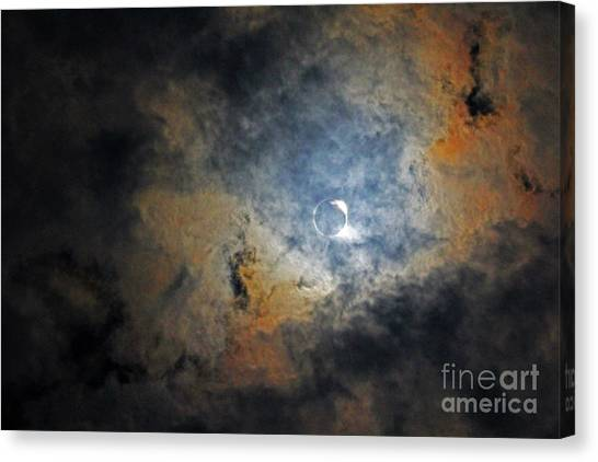 Ring Around The Moon Canvas Print