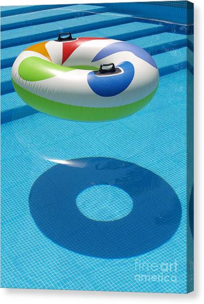 Ring In A Swimming Pool Canvas Print