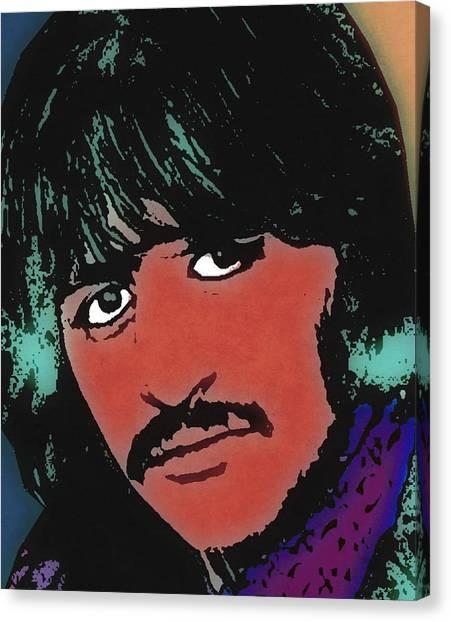 Starkey Canvas Print - Ringo Starr-coloured by Otis Porritt