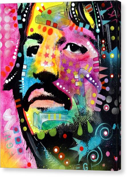 Ringo Starr Canvas Print - Ringo Starr by Dean Russo Art