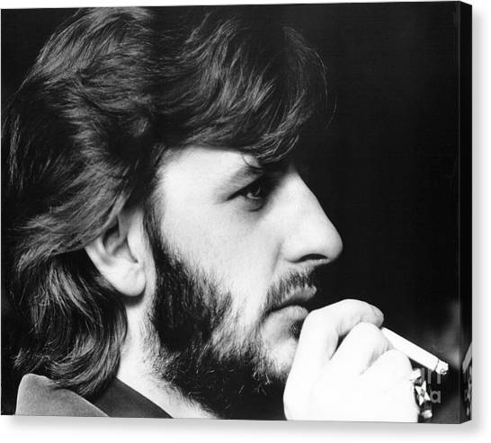 Chris Walter Canvas Print - Ringo Starr In 1972 by Chris Walter