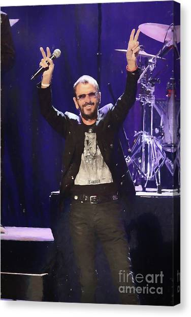 Ringo Starr Canvas Print - Ringo Starr Painting by Concert Photos