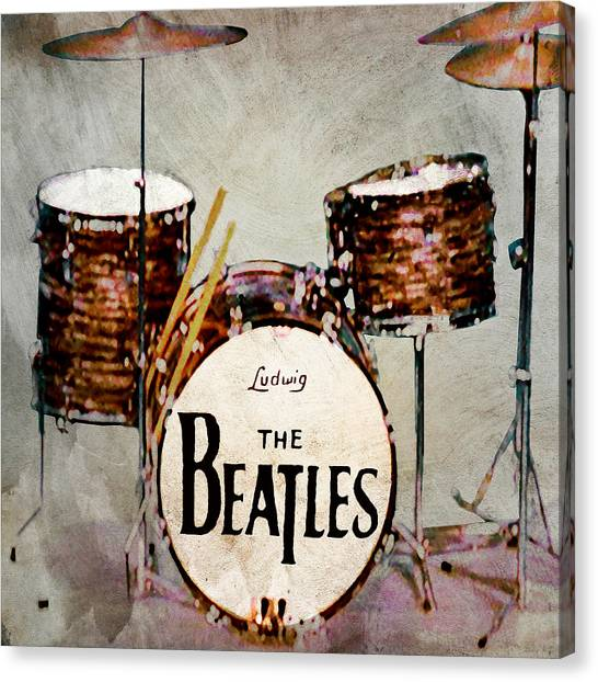 Starkey Canvas Print - Ringo's Drums by Bill Cannon