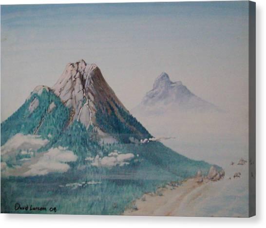 Rinjani Canvas Print by David  Larcom