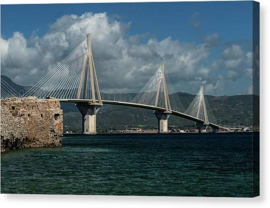 Rio-andirio Hanging Bridge Canvas Print