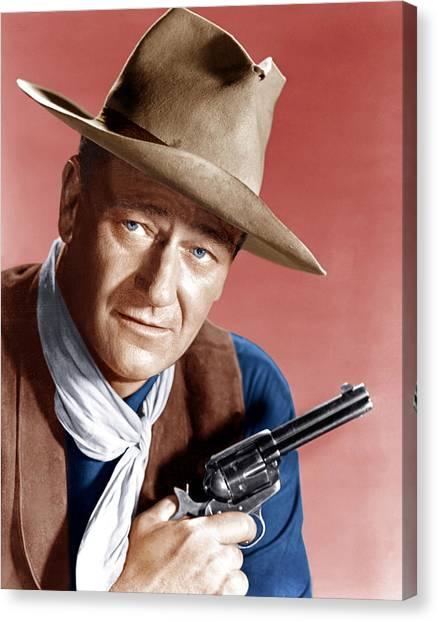 1950s Movies Canvas Print - Rio Bravo, John Wayne, 1959 by Everett